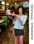 woman food service worker... | Shutterstock . vector #795413182