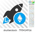 ethereum rocket icon with 700... | Shutterstock .eps vector #795414916