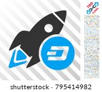 dash rocket icon with 7 hundred ... | Shutterstock .eps vector #795414982