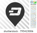 dash pin icon with 7 hundred... | Shutterstock .eps vector #795415006