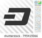 dash currency pictograph with 7 ... | Shutterstock .eps vector #795415066