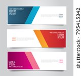 colorful banner template. blue  ... | Shutterstock .eps vector #795415342