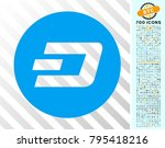 dash coin pictograph with 700... | Shutterstock .eps vector #795418216