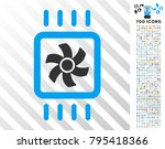 chip cooling pictograph with... | Shutterstock .eps vector #795418366
