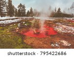 """Small photo of """"Red Spouter"""" in Yellowstone National Park"""