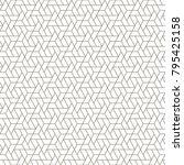 linear seamless geometric... | Shutterstock .eps vector #795425158