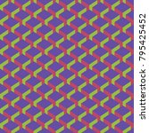 colored seamless geometric... | Shutterstock .eps vector #795425452