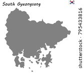 high quality map of south... | Shutterstock .eps vector #795433816