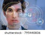 biometrics concept. facial... | Shutterstock . vector #795440836