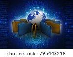 3d rendering documents copying...   Shutterstock . vector #795443218