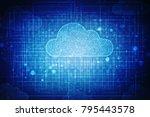 2d rendering cloud computing | Shutterstock . vector #795443578