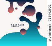 trendy abstract background.... | Shutterstock .eps vector #795443902