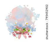 floral vector banner. abstract... | Shutterstock .eps vector #795452902