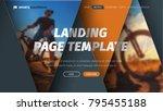design of vector header with... | Shutterstock .eps vector #795455188