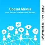 social network background with... | Shutterstock .eps vector #79545550