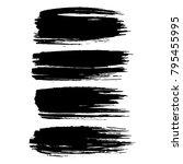 grunge ink brush strokes set.... | Shutterstock .eps vector #795455995
