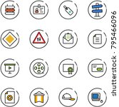 line vector icon set   sign... | Shutterstock .eps vector #795466096