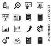 solid black vector icon set  ... | Shutterstock .eps vector #795472795