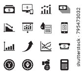 solid black vector icon set  ... | Shutterstock .eps vector #795473032