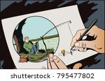 stock illustration. people in... | Shutterstock .eps vector #795477802