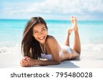 happy healthy beautiful asian... | Shutterstock . vector #795480028