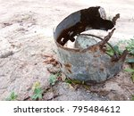 the old charcoal grinder is not ... | Shutterstock . vector #795484612