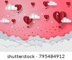 valentine's day concept there... | Shutterstock .eps vector #795484912