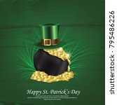 st patrick's day  17 march  | Shutterstock .eps vector #795486226