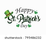 st patrick's day  17 march  | Shutterstock .eps vector #795486232