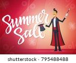 summer sale   cartoon people... | Shutterstock .eps vector #795488488
