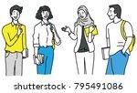 vector illustration various... | Shutterstock .eps vector #795491086