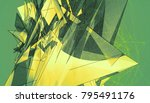 abstract mosaic green and green ... | Shutterstock . vector #795491176