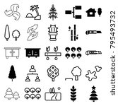 tree icons. set of 25 editable... | Shutterstock .eps vector #795493732