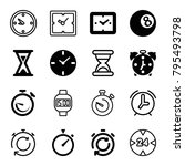 timer icons. set of 16 editable ... | Shutterstock .eps vector #795493798