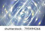 abstract background blue tunnel.... | Shutterstock . vector #795494266