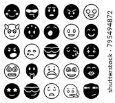 emotion icons. set of 25... | Shutterstock .eps vector #795494872