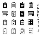 checklist icons. set of 16...   Shutterstock .eps vector #795494926