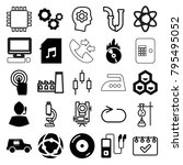 technology icons. set of 25... | Shutterstock .eps vector #795495052
