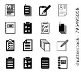 notepad icons. set of 16... | Shutterstock .eps vector #795495058