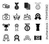 first icons. set of 16 editable ... | Shutterstock .eps vector #795495082