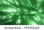 abstract green bokeh circles on ... | Shutterstock . vector #795496162