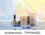 miniature people   businessman... | Shutterstock . vector #795496282