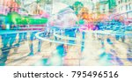 crowd of anonymous people... | Shutterstock . vector #795496516