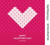 valentine's day greeting card... | Shutterstock .eps vector #795496696