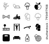 lifestyle icons. set of 16... | Shutterstock .eps vector #795497908