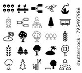 tree icons. set of 25 editable... | Shutterstock .eps vector #795497986