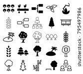 tree icons. set of 25 editable... | Shutterstock .eps vector #795497986