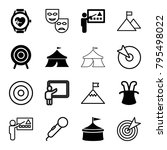 performance icons. set of 16... | Shutterstock .eps vector #795498022