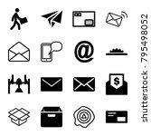 mail icons. set of 16 editable... | Shutterstock .eps vector #795498052