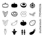 vegetable icons. set of 16...   Shutterstock .eps vector #795498106